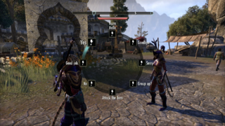 TESO version console la roue de discussion rapide