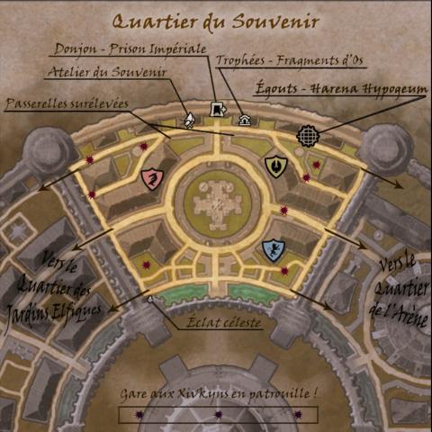 Carte commentée du Quartier du Souvenir