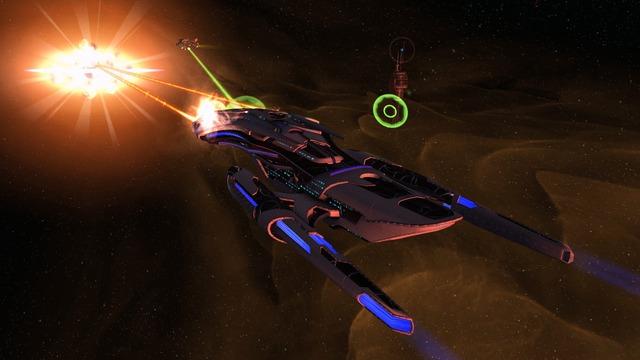 Destroyer scientifique de Dyson avancé Starfleet - Classe Montgomery