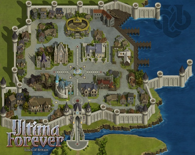 Carte de la ville de Britain