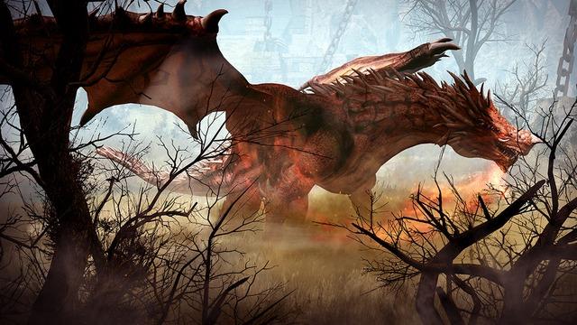 Gamos, le dragon rouge