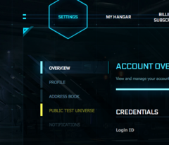 RSI Account - PTU