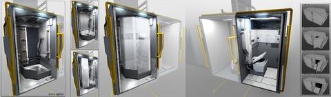 Illustration conceptuelle : aménagements du Cutlass retravaillé