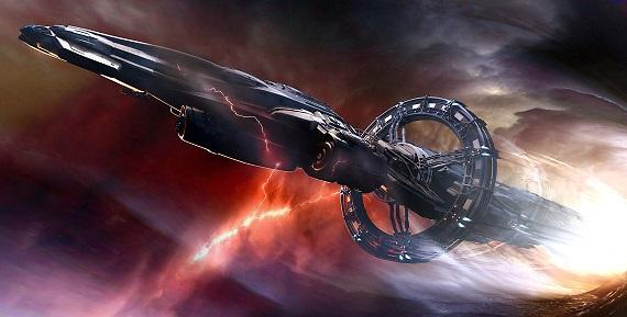 Sortie de Quantum Drive pour l'Endeavor (concept art)