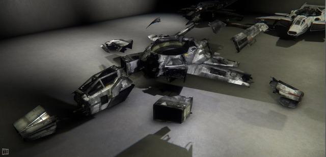 Figure 2 : Quelques-uns des nombreux états de dégâts du Hornet