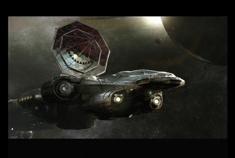L'Endeavor en configuration de recherche spatiale