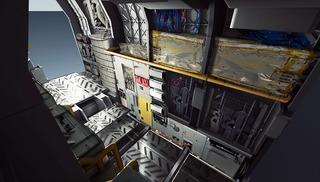 Illustration conceptuelle : rangements pour l'équipage du Cutlass
