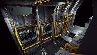 Illustration conceptuelle : rangements pour l'équipage du Cutlass revus