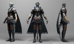 Modèle 3D d'une barde Gargoyle (de la faction des Arthuriens)
