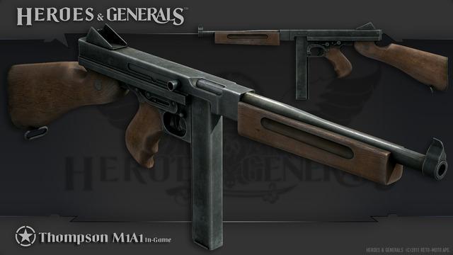 HandG Renders US Thompson M1A1