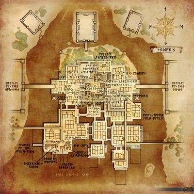 Carte de la ville d'Ardoris