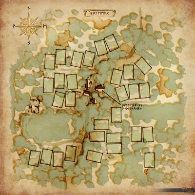 Carte de la ville de Braemar