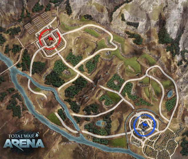 "Carte ""Germania"" de Total War Arena"