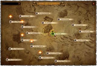 Carte de l'acte I dans le mode aventure