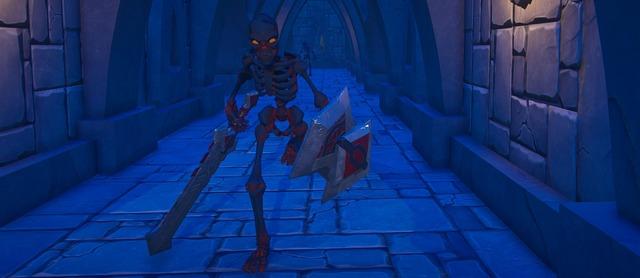 Squelette dans un donjon de Landmark