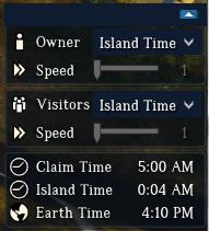 Aperçu de la fenêtre des contrôles horaires