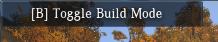 Touche B pour entrer en Mode Construction