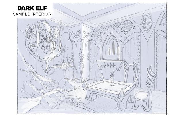 Architecture des Elfes noirs : intérieurs