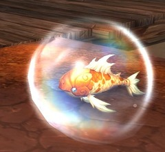Minuscule poisson rouge
