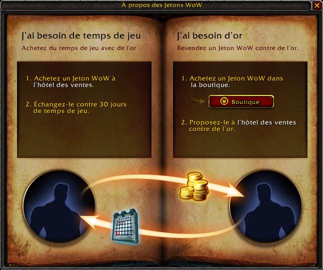 large sélection bonne texture en gros Blizzard Entertainment - Des Jetons WOW bientôt convertibles ...