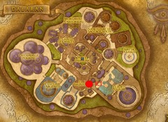 Carte fontaine Dalaran