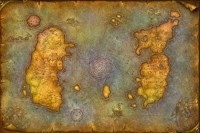 Carte du monde classique