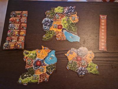 Exemple de disposition pour trois joueurs