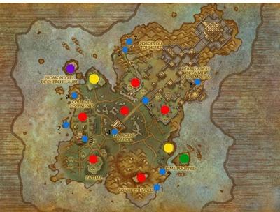 Carte de l'île du tonnerre