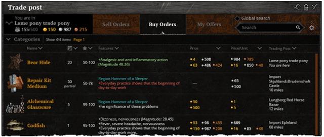 Des ordres d'achats enfin disponible!