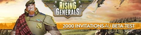 2000 invitations au bêta-test de Rising Generals