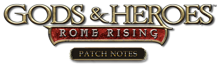 Logotype - Gods and Heroes - Patch Notes