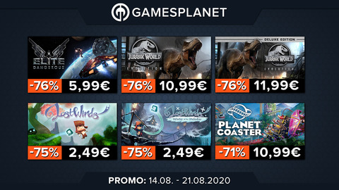 Promo Gamesplanet : Horizon Zero Dawn (-10%), catalogue Frontier Developments (jusqu'à -76%)