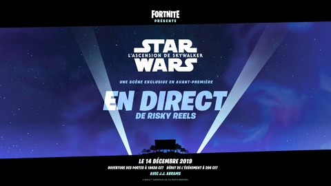 Fortnite - Une scène inédite de Star Wars: L'Ascension de Skywalker diffusée dans Fortnite