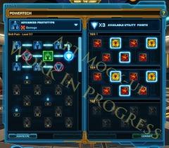 La nouvelle interface avec l'arbre commun à la classe avancée, les sous-spécialisations et la spécialisation en haut