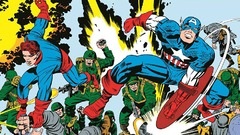 "Captain America, par Jack ""King"" Kirby"