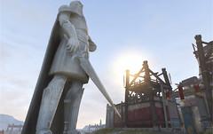 Décoration de ville : statue