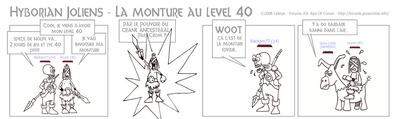 La monture au level 40