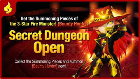Summoners War - Donjon Secret : Bounty Hunter Feu