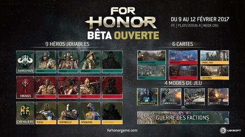 For Honor - For Honor en bêta ouverte du 9 au 12 février