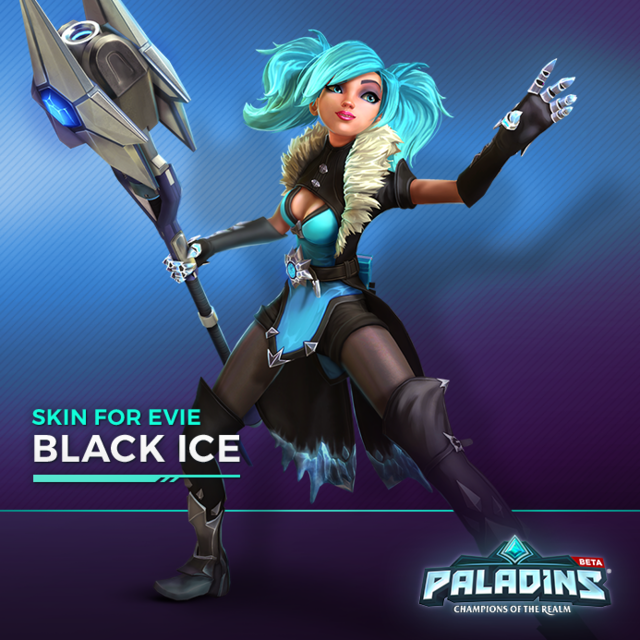 "Skin ""Black Ice"" d'Evie"