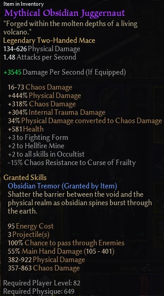 Mythical Obsidian Juggernaut