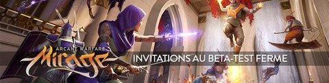 1000 invitations à la bêta fermée de Mirage Arcane Warfare
