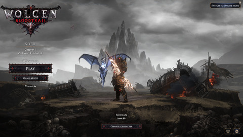 Wolcen Bloodtrail - Main Screen 2