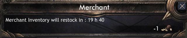 Réapprovisionnement du marchand