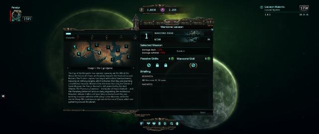 Warzone - Sélection de mission