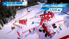 Le départ de la descente olympique