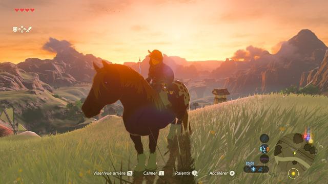 Equitation au soleil couchant