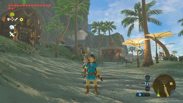 Link à la plage