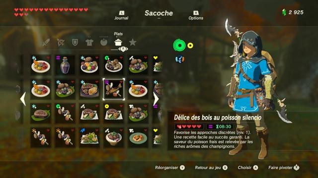 La cuisine dans Zelda