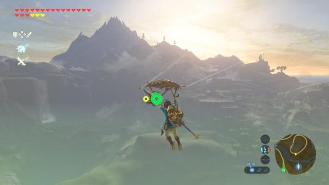 La pratique de la paravoile dans Zelda